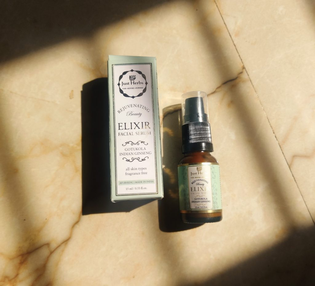 Just herb facial serum- A look into this elixir